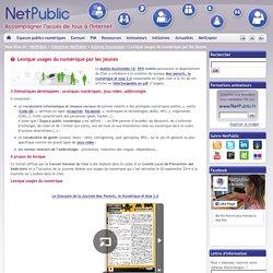 Lexique usages du numérique par les jeunes