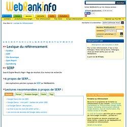 - Lexique WebRankInfo