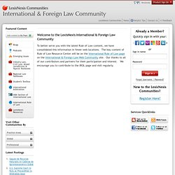 Rule of Law Resource Center - Lexis Nexis