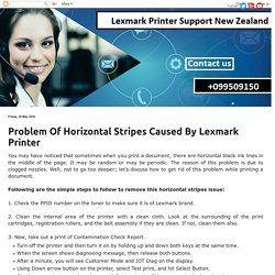 Lexmark Printer Support New Zealand Number +099509150: Problem Of Horizontal Stripes Caused By Lexmark Printer