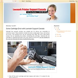 Solve Cartridge Error with Lexmark Support Canada