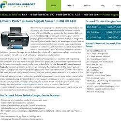 Lexmark Printer Customer Support Number +1-888-989-8478