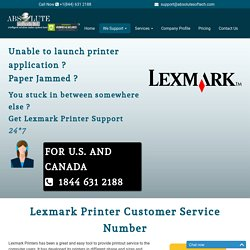 Lexmark Printer Customer Support Number