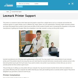 Lexmark Printer Customer Service