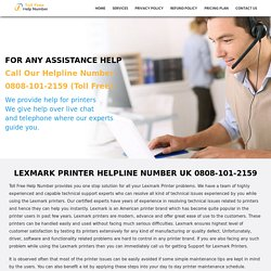 Lexmark Printer Help Number UK 0808-101-2159 Lexmark Printer UK