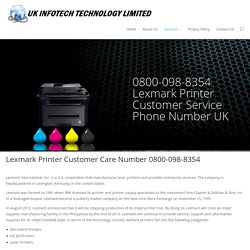 Lexmark Printer Helpline Number UK