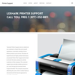 Lexmark Printer Support Call 1 (877)-252-8811