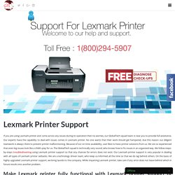 Lexmark printer Support by Dial toll free 1-800-294-5907