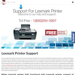 [ 1-800-294-5907 ] Lexmark Printer Technical Number