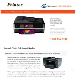 Lexmark Printer Tech Support Number