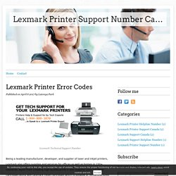 Lexmark Printer Error Codes - Lexmark Printer Support Number Canada 1-844-888-3870