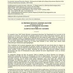 Index de la Revue le Lexovien du Calvados