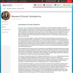 Maureen O'Connell, Scholastic Inc. on LexisNexis