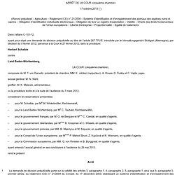EUROPE 17/10/13 ARRÊT DE LA COUR (cinquième chambre) 17 octobre 2013 (*) «Renvoi préjudiciel – Agriculture – Règlement (CE) n° 2
