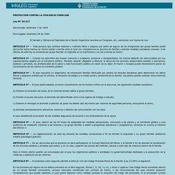 Ley 24.417 Protección contra la violencia familiar