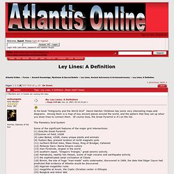 Ley Lines: A Definition