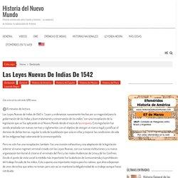 Leyes Nuevas de Indias de 1542