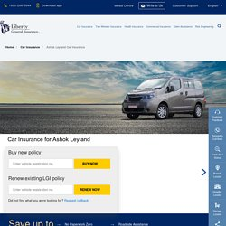 Ashok Leyland Insurance: Buy/Renew Car Insurance for Ashok Leyland Vehicles Online
