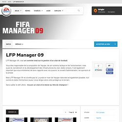 Site officiel Electronic Arts - LFP MANAGER 09 sur PC - INFO