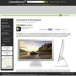 LG annonce le Chromebase