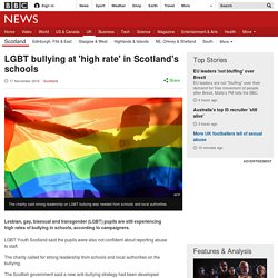 LGBT bullying at 'high rate' in Scotland's schools