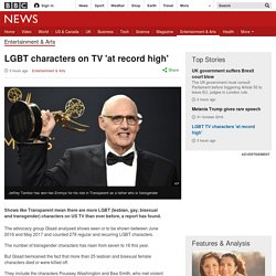 LGBT characters on TV 'at record high'