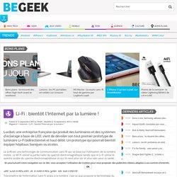 Li-Fi : bientôt l'Internet par la lumière !