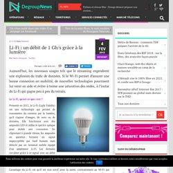 Li-Fi : un débit de 1 Gb/s grâce à la lumière