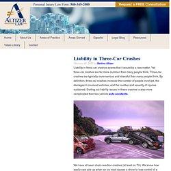 Liability in Three-Car Crashes - Altizer Law Virginia