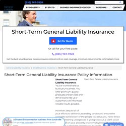 Short-Term General Liability Insurance - Cost & Coverage (2020)