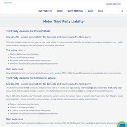 Car Third Party Liability Insurance Policy