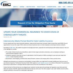Cybersecurity Attacks Prompt Need for Cyber Liability Insurance to cover Covid-19 CyberSecurity Threats