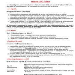 liaison CM2-6eme