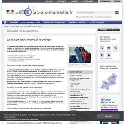 La liaison entre l'école et le collège - ac-aix-marseille.fr