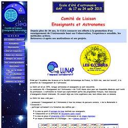 CLEA Comité de Liaison Enseignants Astronomes