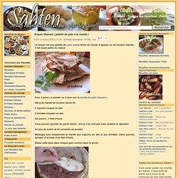 Arayes libanais ( galette de pain a la viande )