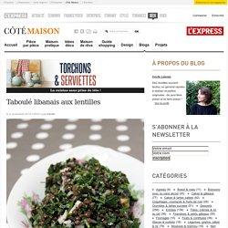 Taboulé libanais aux lentilles