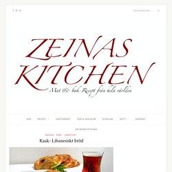 Kaak- Libanesiskt bröd - ZEINAS KITCHEN