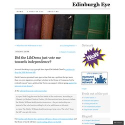 Did the LibDems just vote me towards independence? | Edinburgh Eye