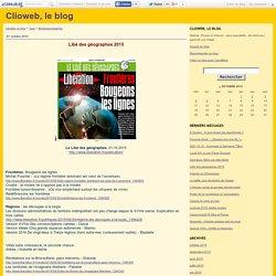 Libé des géographes : inventaire des articles