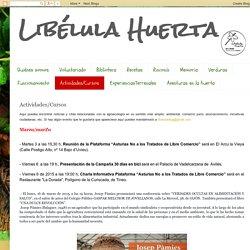 Libélula Huerta: Actividades/Cursos