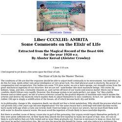 Liber CCCXLIII - AMRITA