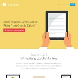 Make eBooks. Really simple.