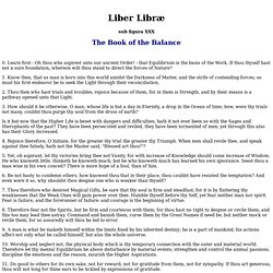 Liber Libræ sub figura XXX :: The Book of the Balance