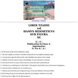 Liber Tzaddi