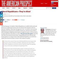 Liberal Republicans—They're Alive!