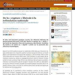 De la « rupture » libérale à la refondation nationale - La vie d
