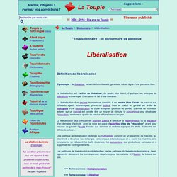 Libéralisation