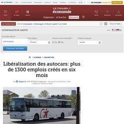 Libéralisation des autocars: plus de 1300 emplois créés en six mois