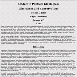 Liberalism & Conservatism